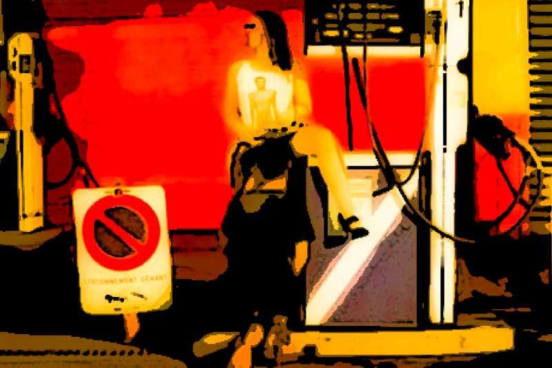"""Stationnement Genant, de la collection """"Art Of Street Sex"""", par Les Chevaliers Photographes"""