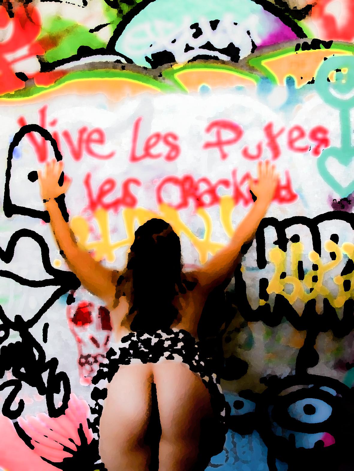 """Slogan Feministe, une photo de la collection """"Art of Street Sex"""" par Les Chevaliers Photographes."""